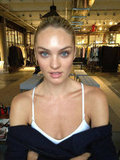 Rag & Bone snapped Candice Swanepoel sans makeup before the Met Gala.
