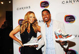 Mariah Carey and Nick Cannon debuted some sneakers at the Project Canvas Exhibition & Art Gala in NYC.
