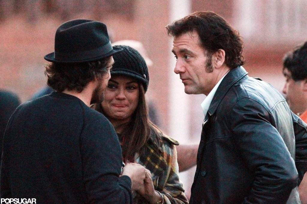 Mila Kunis and Clive Owen hung out on the set of Blood Ties  together in NYC.