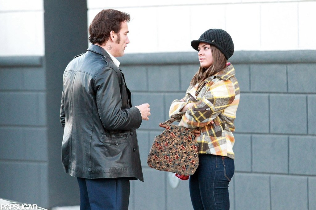 Mila Kunis and Clive Owen filmed a scene for Blood Ties in NYC.