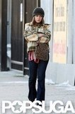 Mila Kunis took a walk on the set of Blood Ties in NYC.