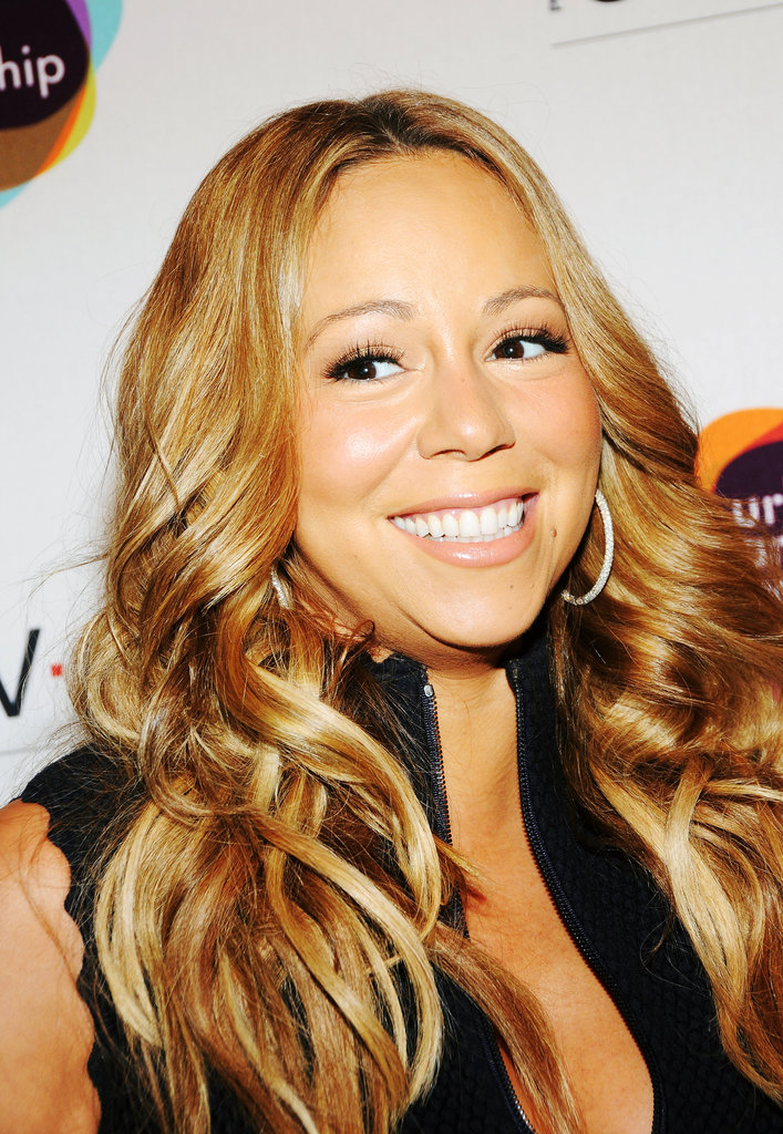 Mariah Carey looked happy to attend the Project Canvas Exhibition & Art Gala in NYC.