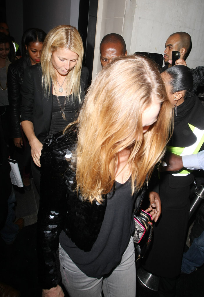 Gwyneth Paltrow Parties With Jay-Z, Kanye, Chris, and More in London