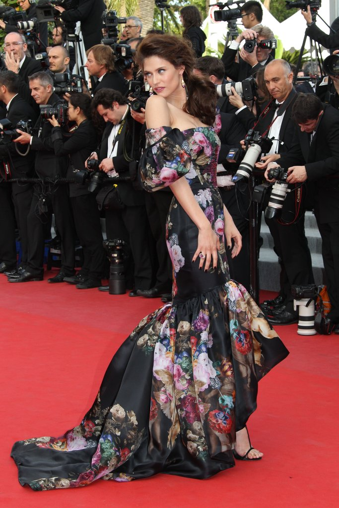 Bianca Balti wore a formfitting floral gown to the Lawless premiere.