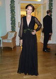 Bérénice Bejo looked ultra-elegant in a black gown with sheer sleeves.