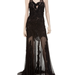 Max Studio Mixed Lace and Mesh Long Gown ($598)