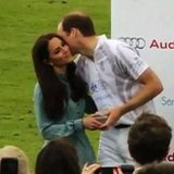 Kate Middleton Kissing Prince William at Polo Match Video Footage