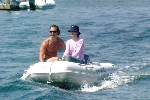 Then-couple Matthew McConaughey and Sandra Bullock spent a sweet day boating around Marina Del Rey in 2003.