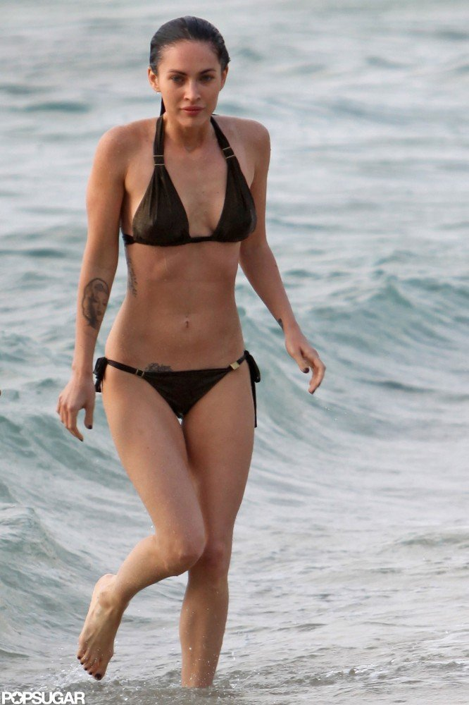 Megan Fox showed off her hot body while on the beach in Maui in May 2010.