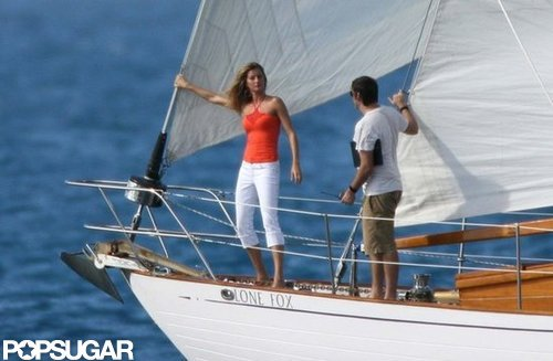Gisele Bundchen struck a sexy pose while shooting a Victoria's Secret catalog in St. Barts in 2006.