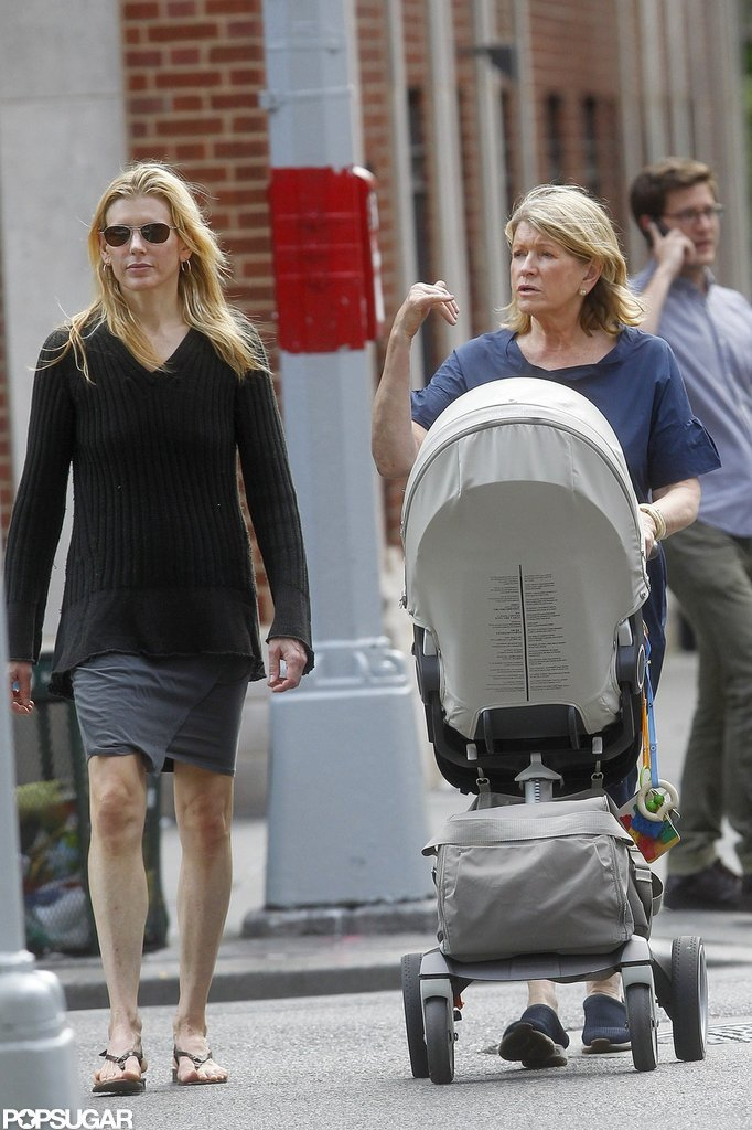 Martha Stewart spent the afternoon in NYC with her daughter Alexis and granddaughter Jude.