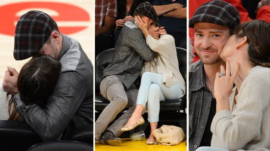 Video: Justin Timberlake and Jessica Biel's Kiss Cam Makeout