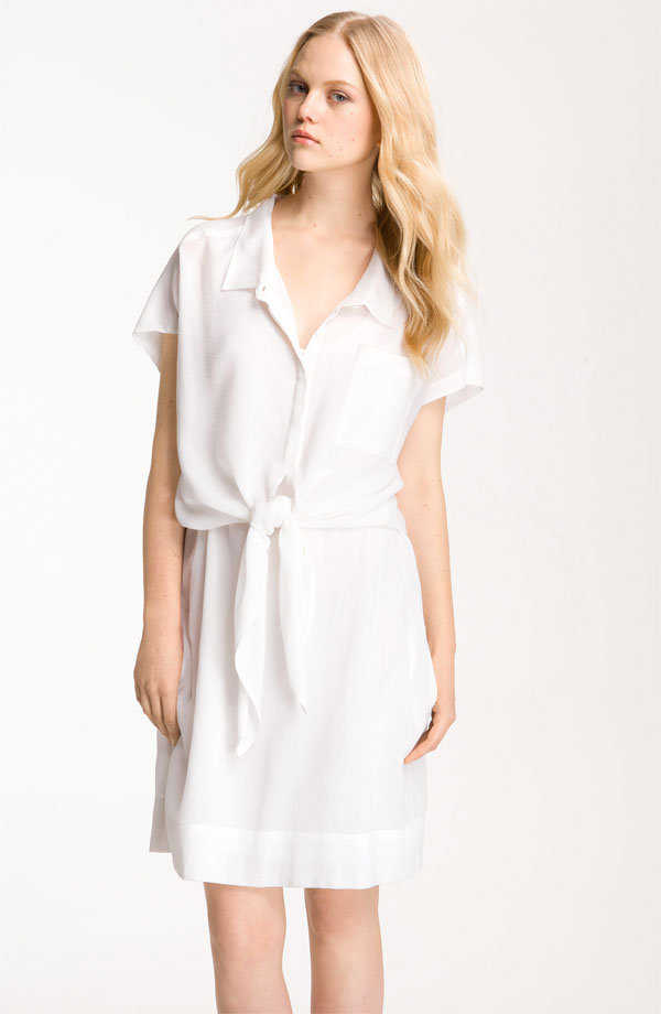 "We may have just found our perfect laid-back LWD. Plus, with a pair of bright sandals, and this frock is totally work appropriate. Diane von Furstenberg ""Linnia"" Tie-Front Shirtdress ($345)"