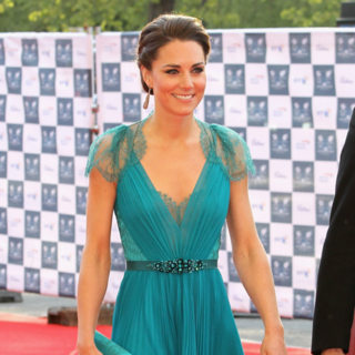 Kate Middleton in Jenny Packham in London