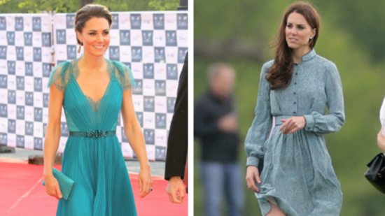 Kate Middleton Stuns in Teal, Twice!