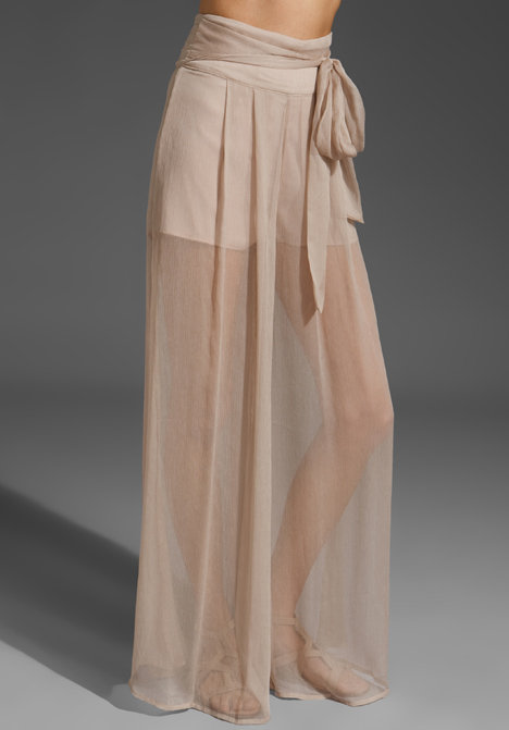 Sheer and feminine — this wide leg silhouette gives off the illusion of a flowy maxi skirt, which we love. Plastic Island Sheer Wide Leg Pant ($79)
