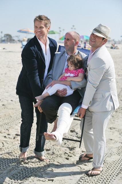 Brian Van Holt, Robert Clendenin, and Ian Gomez on Cougar Town. Photo copyright 2012 ABC, Inc.