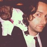 Chris D'Elia quite literally had a monkey on his back. Source: Instagram user chrisdelia
