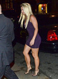 Britney Spears headed into ABC Kitchen in NYC for dinner after the Fox Upfronts party.