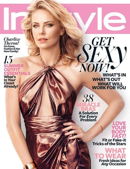 Charlize Theron posed for the cover of InStyle's June 2012 issue.