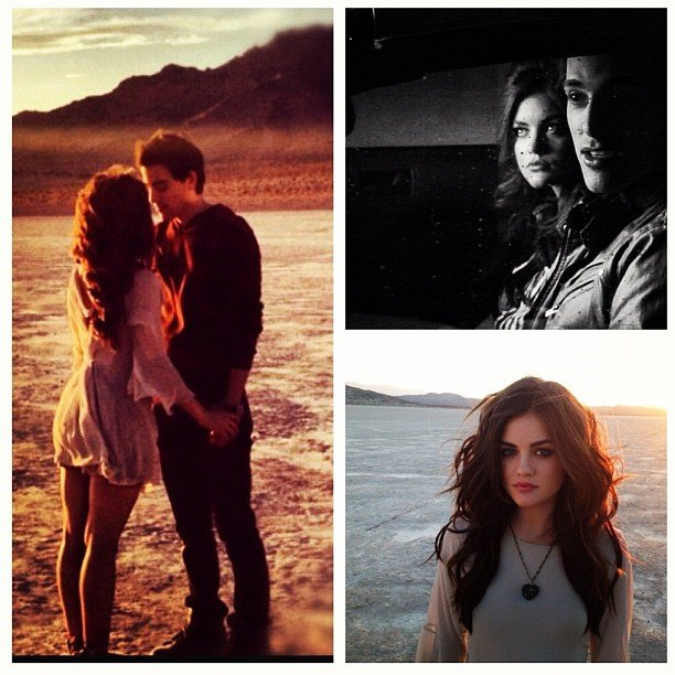 Lucy Hale filmed a music video for Jackson Harris. Source: Instagram user lucyhale89
