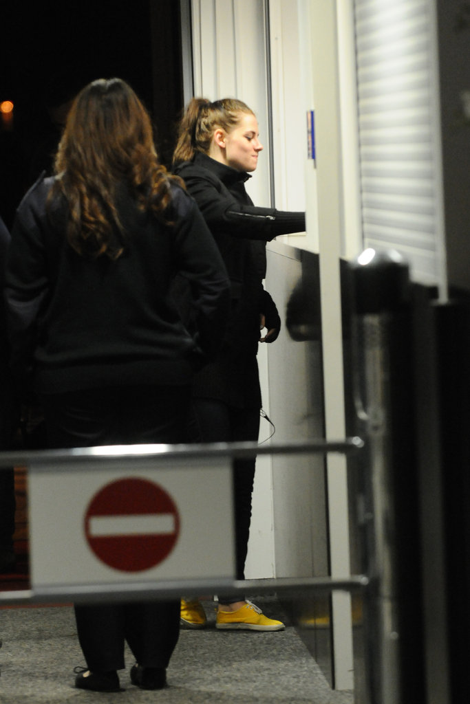 Kristen Stewart arrived in Berlin following a stay in London.