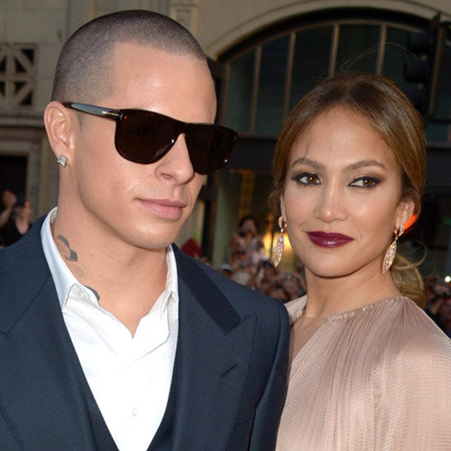 Jennifer Lopez With Casper Smart at What to Expect Premiere
