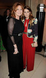 Princess Beatrice and Sarah Ferguson posed together at the Marie Curie Cancer Care Fundraiser in London.
