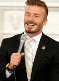 David Beckham spoke at the White House.