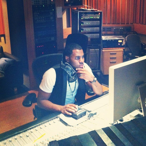 Jason Derulo stayed busy in the studio.  Source: Instagram user futurehistory1