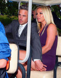 Britney Spears and Jason Trawick headed to the Fox Upfronts party in NYC in a golf cart.