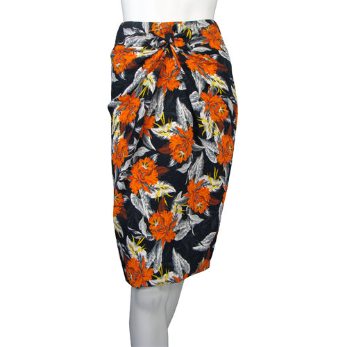 We're dreaming of a tropical vacation after spotting this supercinched pencil skirt. Proenza Schouler Tie Front Skirt in Hibiscus ($1,195)