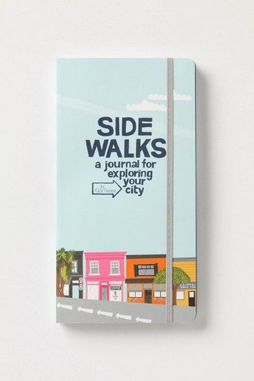 Encourage your grad to explore her new surroundings (wherever they may be) with a journal to recount all of her new experiences. Sidewalks: A Journal For Exploring Your City ($17)