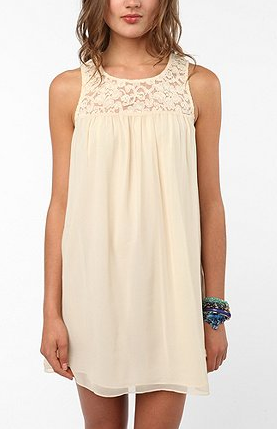 Pins and Needles Lace Yoke Baby Doll Dress ($59)