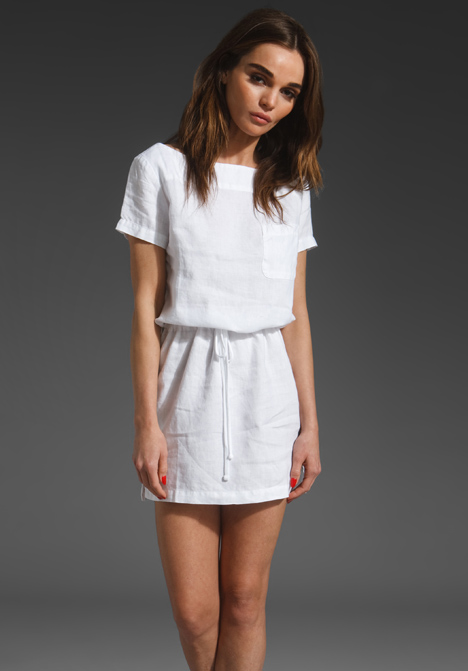 James perse linen t shirt dress 175 jennifer aniston for Perfect white dress shirt