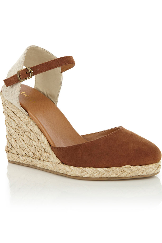 The Summer season calls for a simple yet sleek espadrille wedge, one that goes with everything from your flow-iest dresses to your slickest trousers, and this one is it. Oasis Espadrille Sandals ($75)