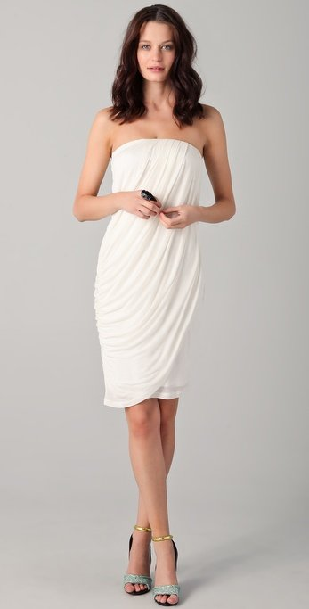 Obakki Elsa Strapless Draped Dress ($320)