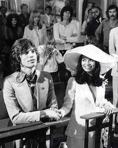 Mick and Bianca Jagger's Intimate Vows