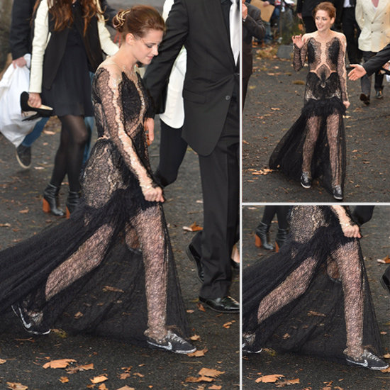 Kristen Stewart Swaps Heels For Nike Sneakers at the Snow White Premiere