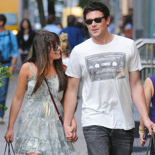 Lea Michele and Cory Monteith Holding Hands PDA Pictures