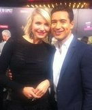 Mario Lopez posed with Cameron Diaz on the red carpet at the premiere of What to Expect When You're Expecting.  Source: Twitter user MarioLopezExtra