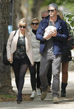 Chris Hemsworth and Elsa Pataky brought baby India out in London.
