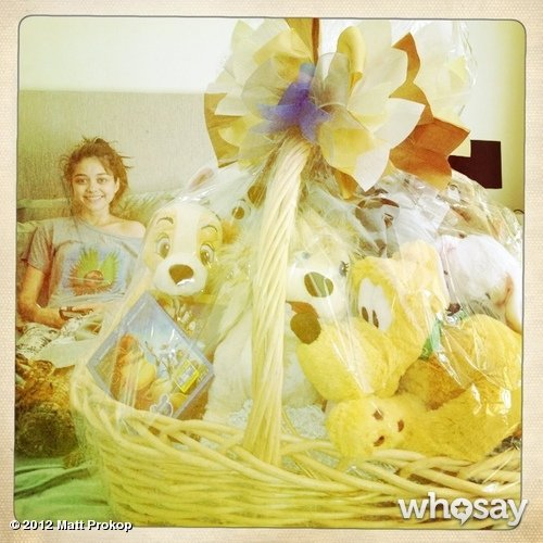 Sarah Hyland received a sweet gift from Disney while resting up after getting a kidney transplant. Source: Matt Prokop on WhoSay