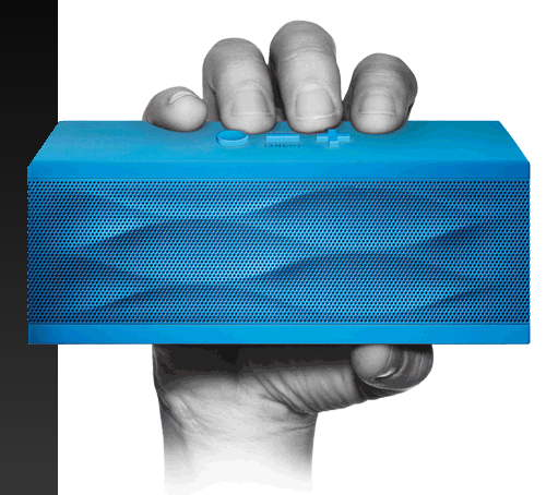 Jambox by Jawbone ($200) has incredibly rich sound for such a tiny wireless speaker. It's more of an investment, but the handheld speaker has the power to fill even the largest room with sound.