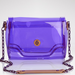 This is a pretty awesome version of Spring's PVC-infused obsession: a see-through purple crossbody bag is sure to catch the attention of many.