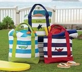 Personalized Striped Totes
