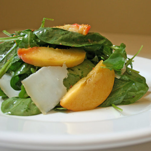 Goat Cheese and Peach Salad