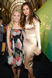 Nina Dobrev posed with AnnaSophia Robb at the CW Upfront in NYC.