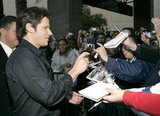 Nick Lachey signed autographs for fans at the 2004 show.