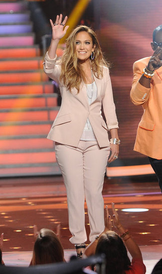 Jennifer Lopez waved to the crowd.
